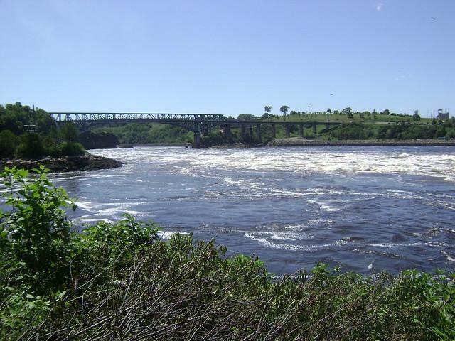 Reversing Falls Bridge and Reversing Rapids