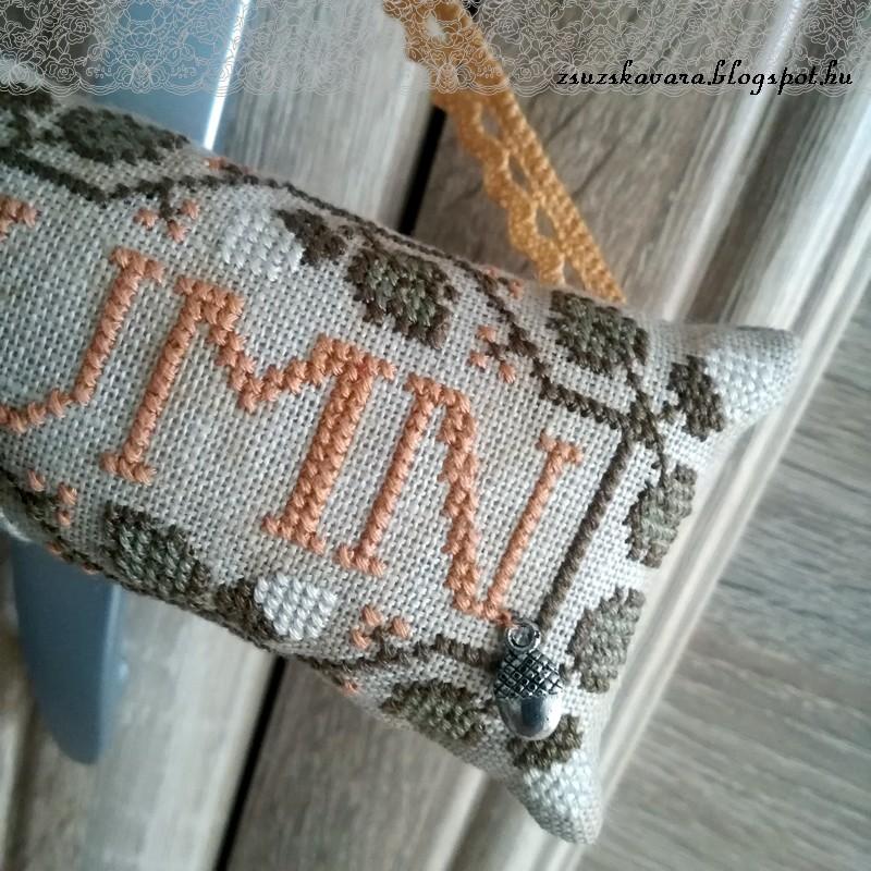 autumn, cross stitch, acorn, tina woltman