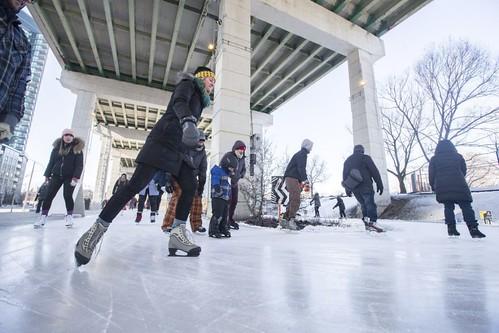 Bentway ice skating track, Toronto