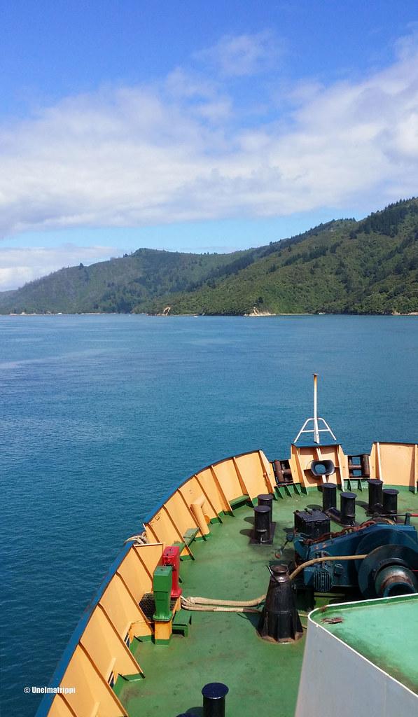 Bluebridgen lautalla Wellingtonista Pictoniin, Uusi-Seelanti