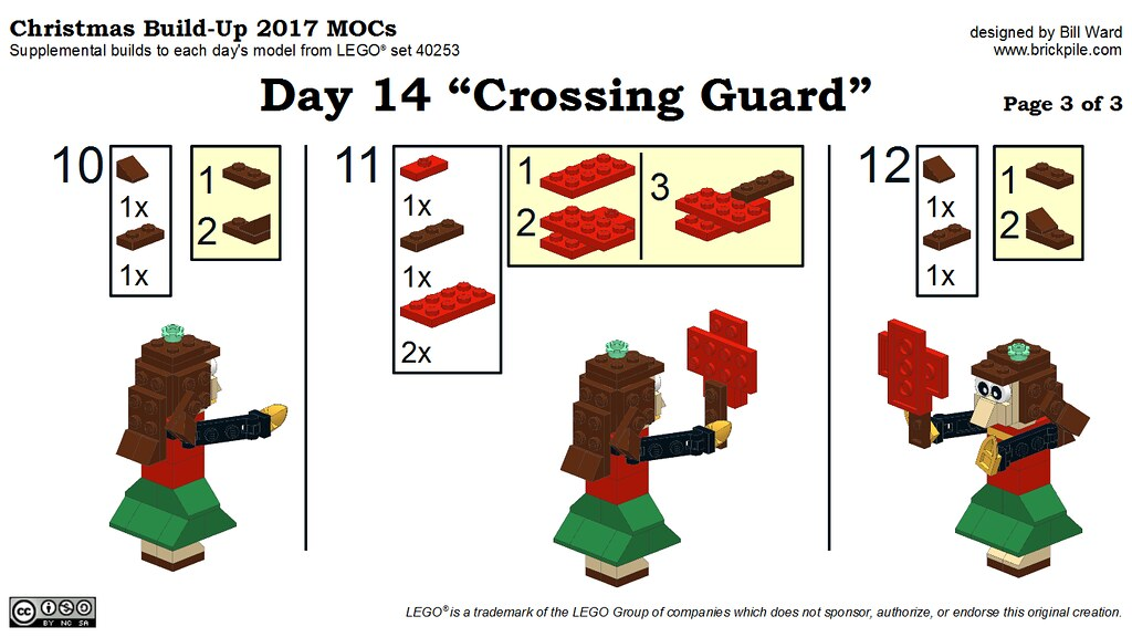 "Christmas Build-Up 2017 Day 14 MOC ""Crossing Guard"" Instructions p3"