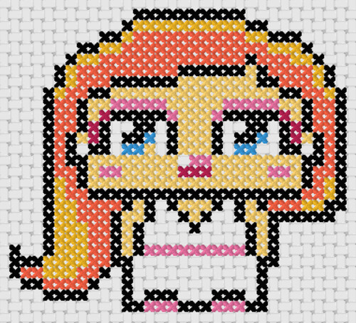 Preview of Free cross stitch charts: Goddess