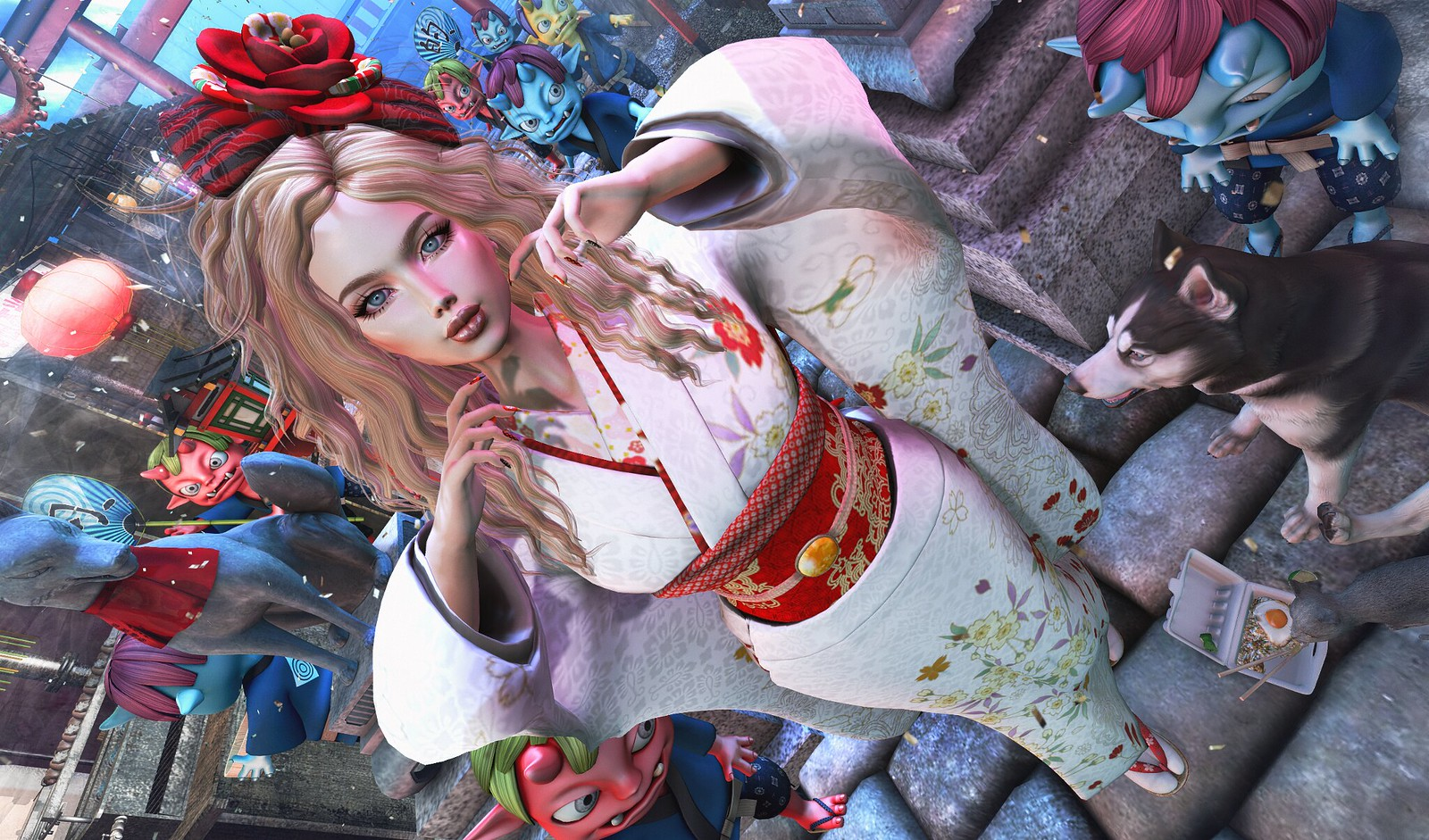 ExiA Furisode Kimono Sakura
