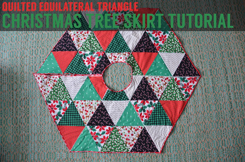 Equilateral Triangle Christmas Tree Skirt