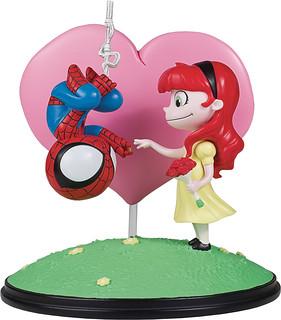 清新的小情小愛風格~Gentle Giant Marvel Comics【蜘蛛人&瑪莉·珍】Spider-Man and Mary Jane Animated Statue