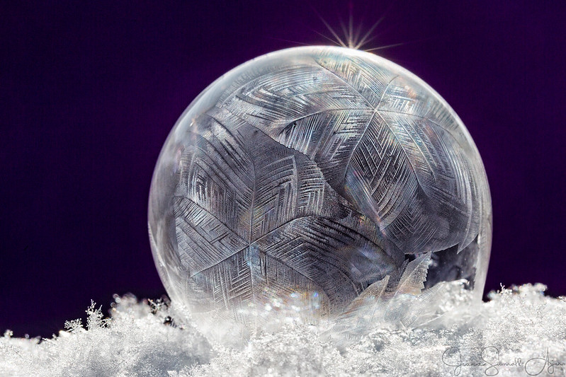 Frozen Bubble (dark background) by Jeanie Sumrall-Ajero