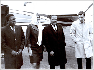 'With Dr. Martin Luther King, Jr' -- Near Grinnell (IA) October 29, 1967