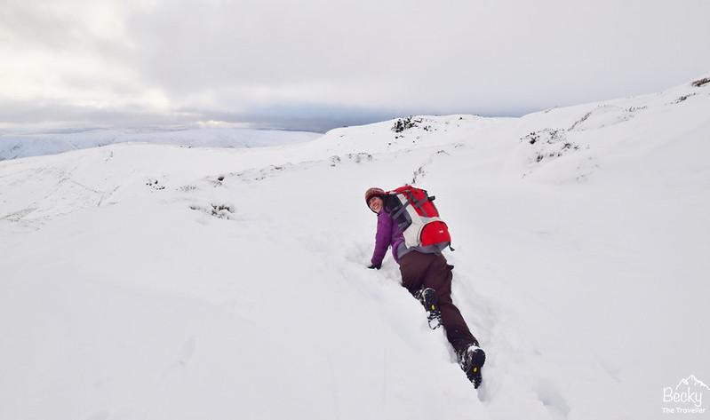 Peak District Edale via Crowden Rocks - Snow