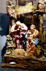 Nativity - Modern statuettes with clothes, for crib (18th century style) - Temporary exhibition up to January 8, 2018 (free entrance) at Santa Marta Church in Naples