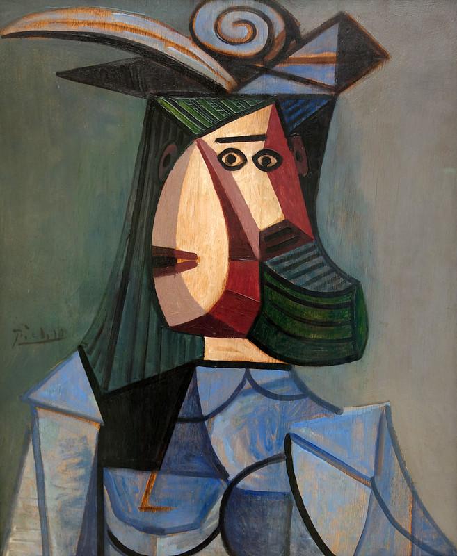 2017-11-23 11-27 Ruhrgebiet 057 Essen, Museum Folkwang, Pablo Picasso - Frau in blauer Bluse