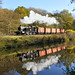 4277 is reflected in the waters of the canal at Consall.