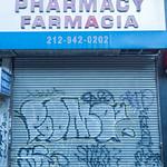 Nagle Pharmacy Security Gate Mural, 210 Nagle Avenue, Inwood, New York City