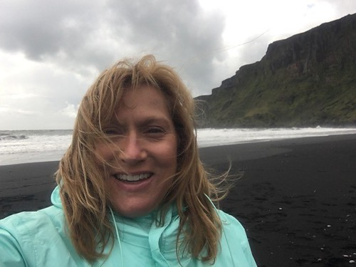 Lisa on the beach in Vik, Iceland. From Healing Through Love: The Journey of Rediscovering Joy