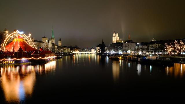 The lights of Zurich ...