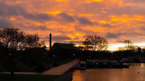 Canal basin dawn