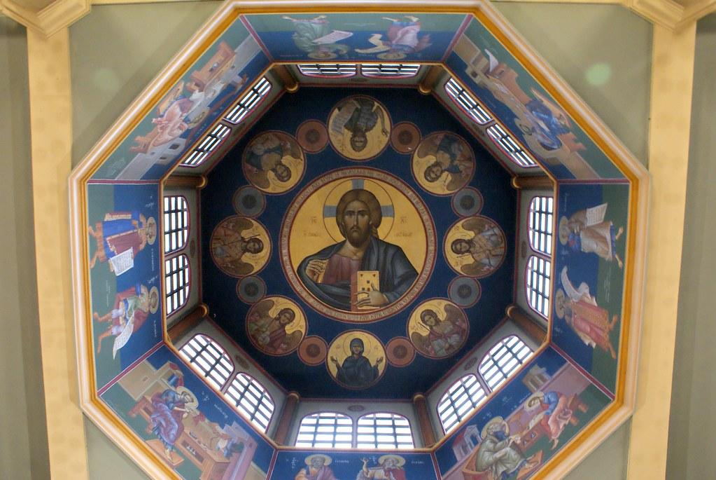 Christ Pantocrator dans l'église orthodoxe grecque de Lyon.