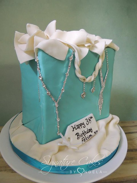 Tiffany Bag Cake from Signature Cakes By Angela