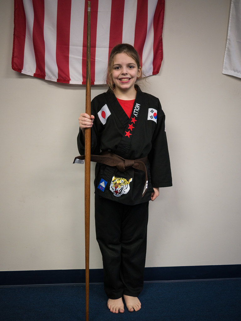With her new brown belt