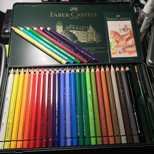Faber Castell Albrecht Durer Magnus watercolor pencils new colors