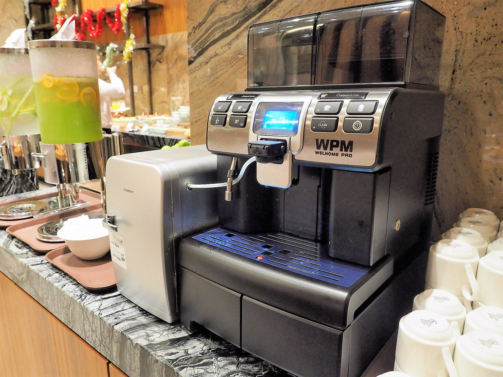 Coffee machine at the buffet restaurant