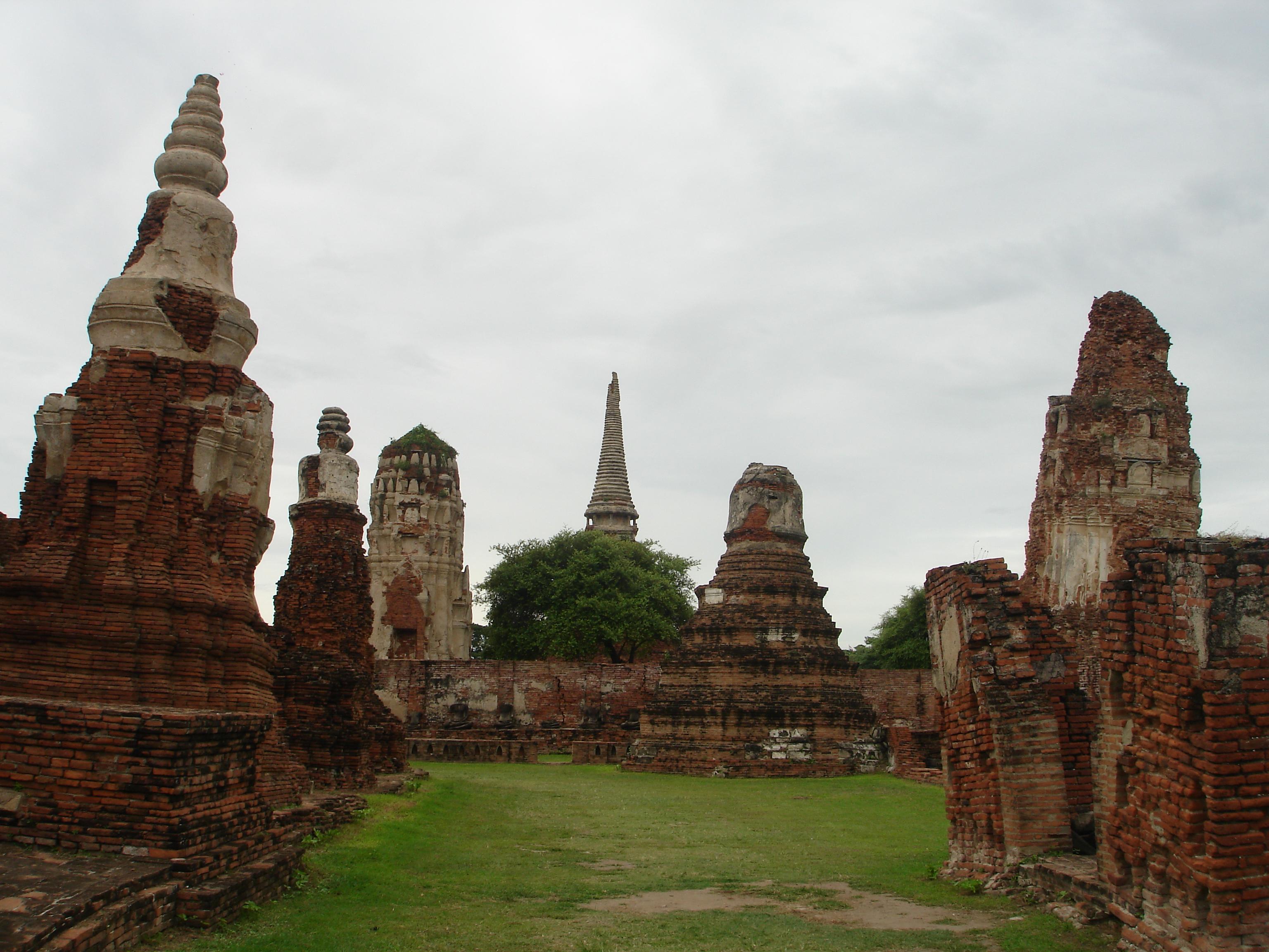 Ruins at Ayutthaya. Photo taken by Mark Jochim on August 3, 2006.