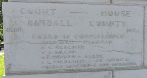 Kimball County Courthouse Cornerstone (Kimball, Nebraska)