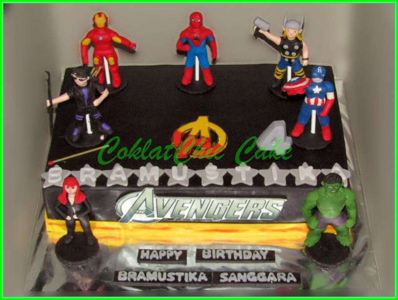 Cake the avengers - BRAMUSTIKA 20x30cm