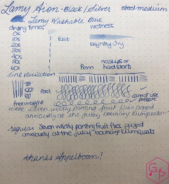 Review Lamy Aion Fountain Pen - Black & Olive Silver @AppelboomLaren 13