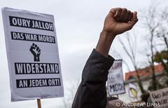 in Gedenken zum 13. Todestag von Oury Jalloh...