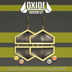 OXIDE Hex Earrings - Subscriber Gift