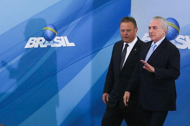 Michel Temer e o ministro da Agricultura, Blairo Maggi  - Créditos: Agência Brasil