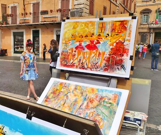 Rome - Piazza Navona - May 2015 - Colourful Tourist Candid