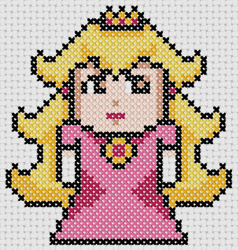 Preview of Cross stitch anime designs: Princess