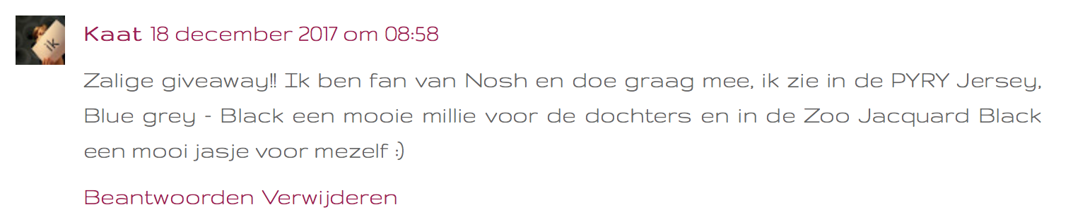 give-away Nosh