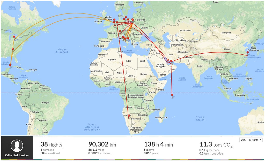 Flight diary Cel w podróży