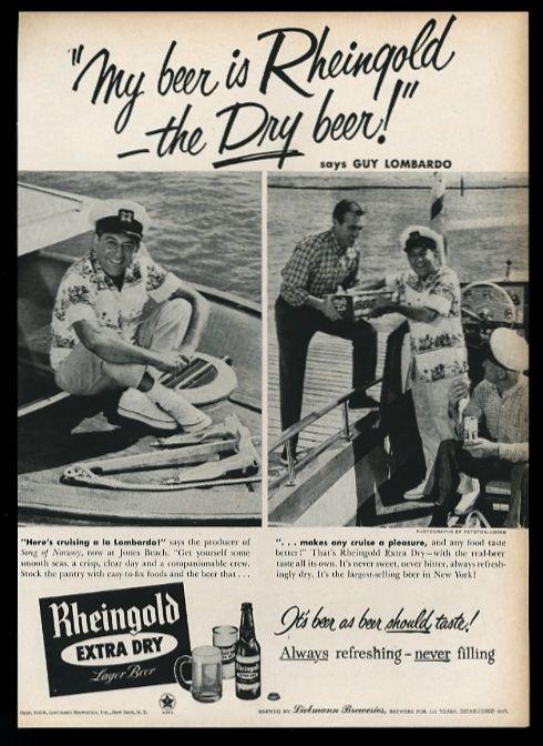 1958-Guy-Lombardo-2-photo-on-boat-Rheingold
