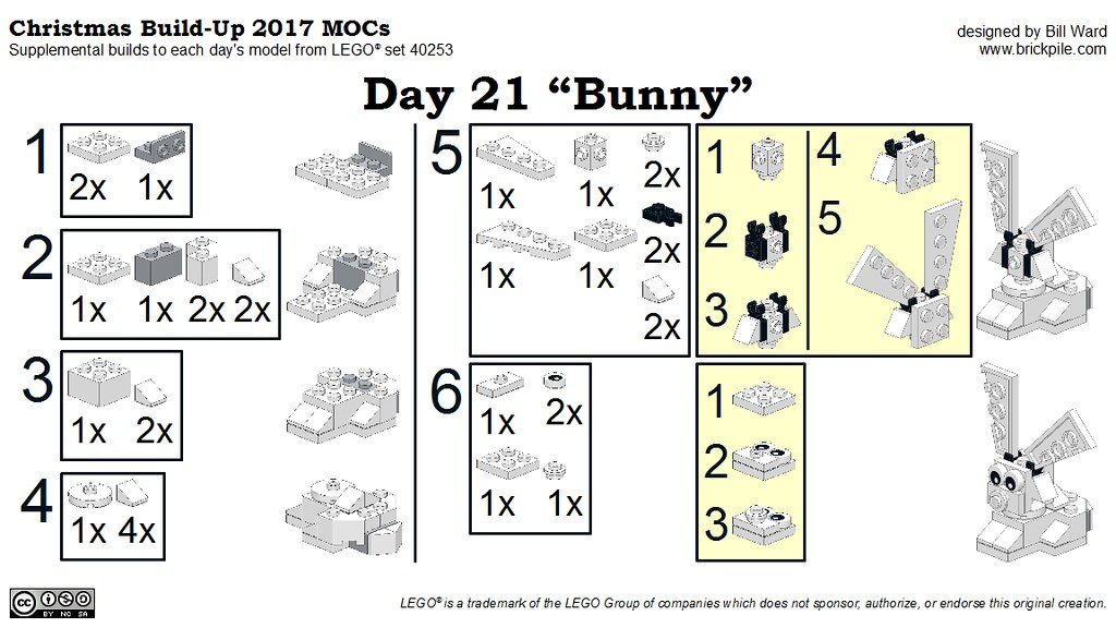 "Christmas Build-Up 2017 Day 21 MOC ""Bunny"" Instructions"