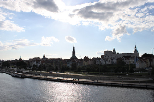 view on old town and river from bridge