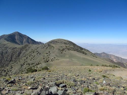 Telescope Peak (L) and Bennett Peak from Rogers Peak in Death Valley National Park, California