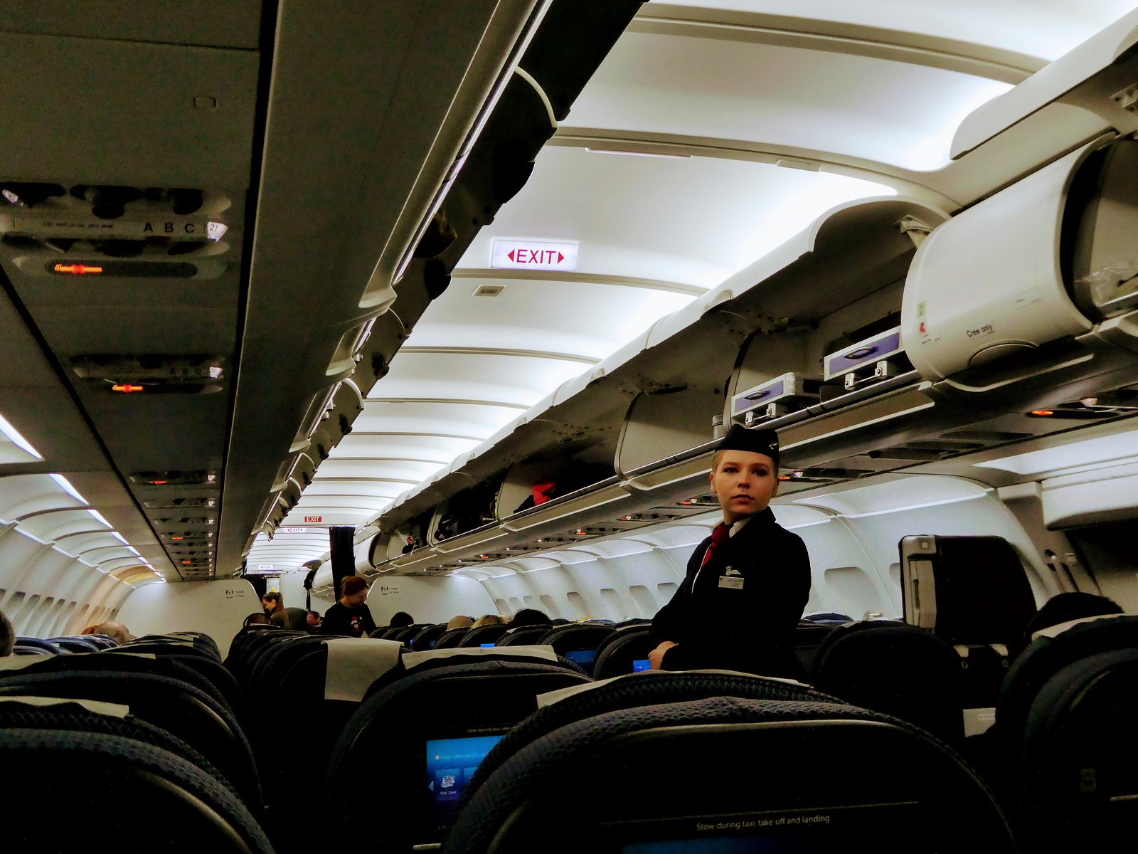 On board the British Airways A321 airliner