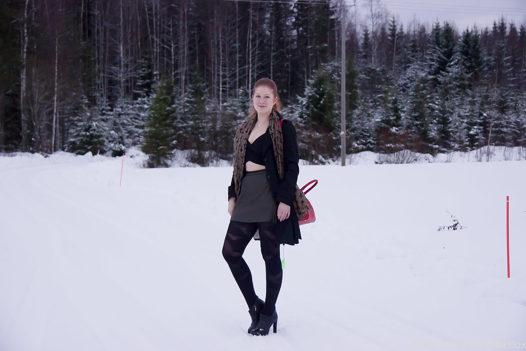 Asu nahkahameella, leatherskirt ootd, winter fashion