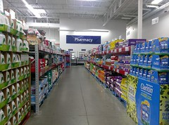 Long view down to the remodeled pharmacy