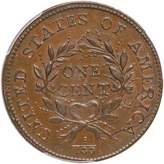 1793 Wreath cent reverse
