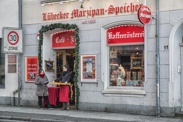 Lübeck december 2017 - ¨Lübecker Marzipan Speicher, Beckergrube 97