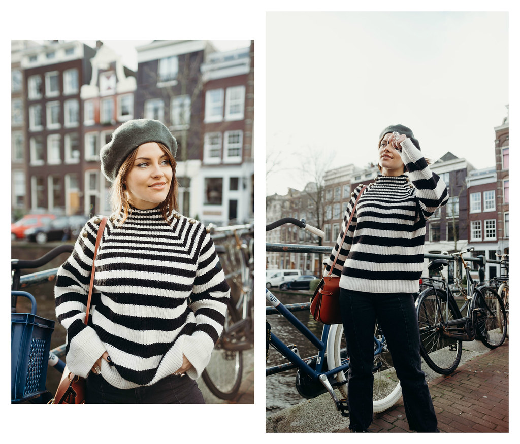The Little Magpie Black and White Striped jumper Zalando Amsterdam