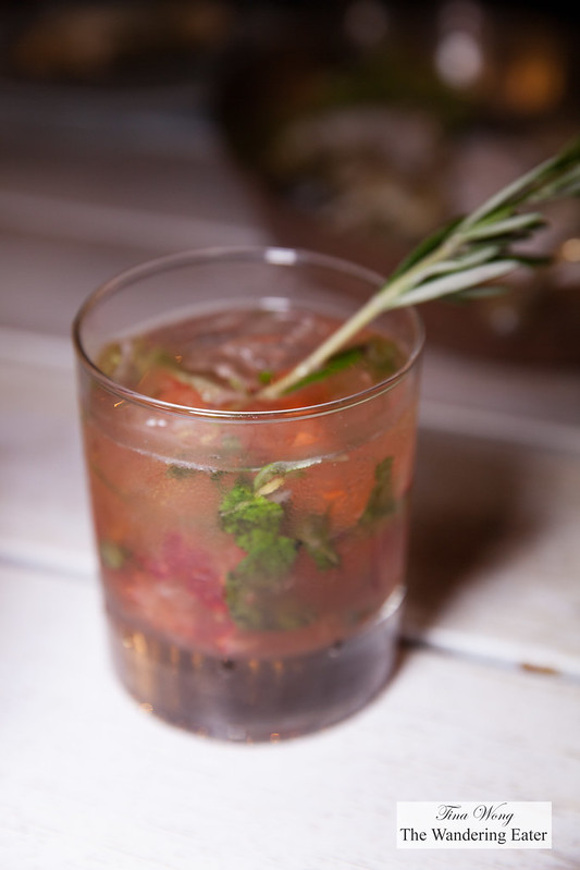 Strawberry Smash - Bulleit Bourbon, Strawberry,.Mint, Rosemary, Lemon
