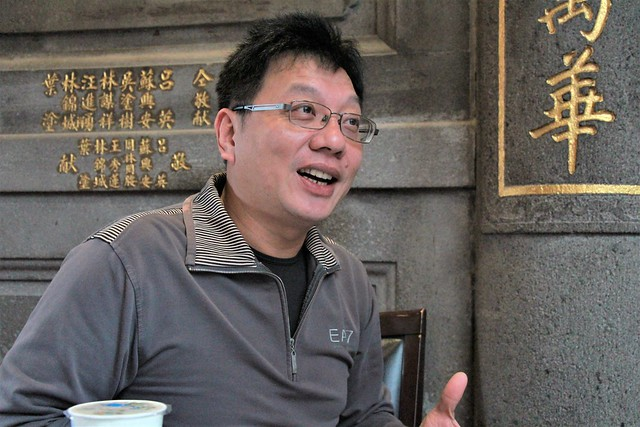 艋舺青山宮發言人郭懿堅_楊詠崴攝