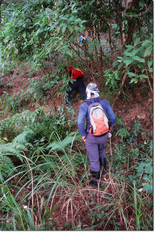 攀登庵婆加山北峰 2