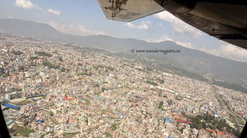 Bird's eye view of Kathmandu