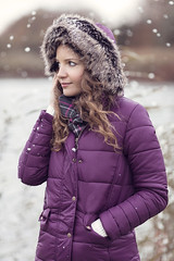 Winter Portrait By The Lake